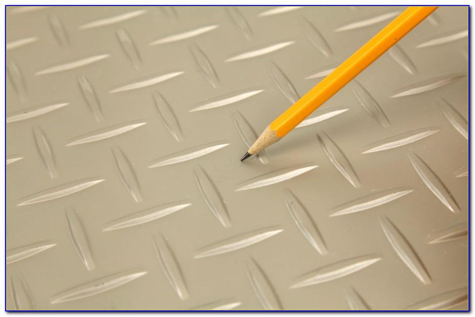 Diamond Plate Vinyl Floor Tile