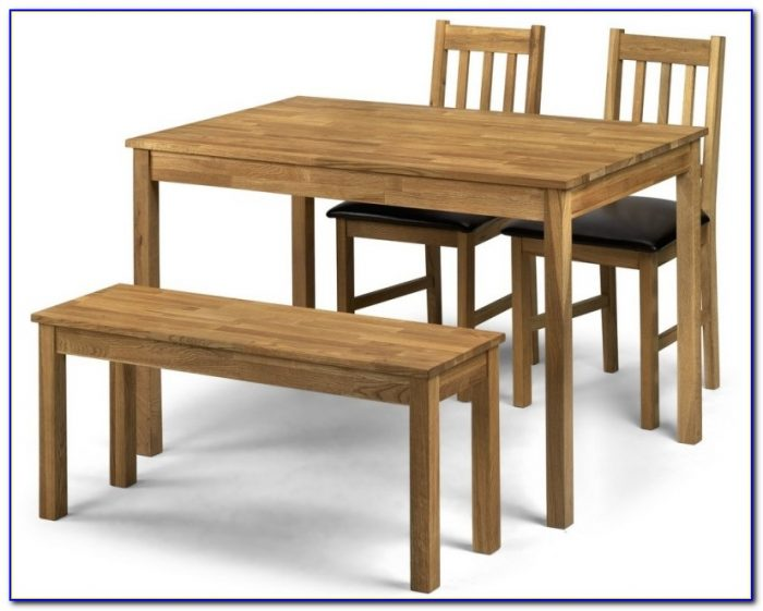 Dining Table With Benches Set