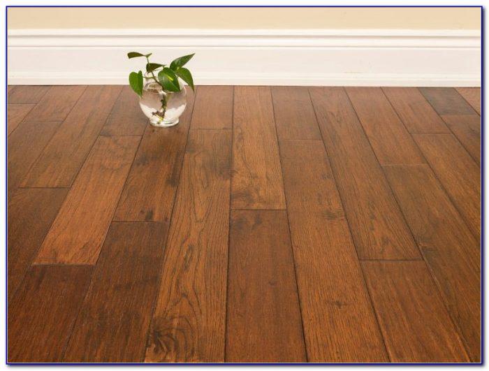 Distressed Brown Hickory Hardwood Flooring
