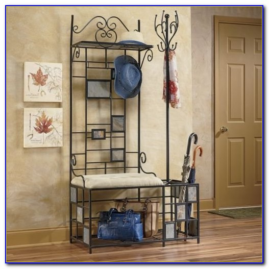 Entry Bench With Coat Rack