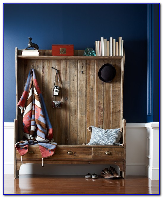 Entryway Bench With Coat Rack And Storage