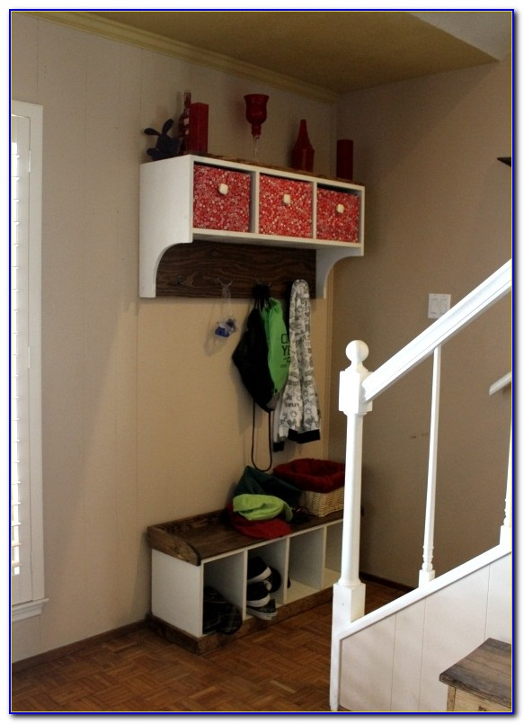 Entryway Bench With Hooks And Storage