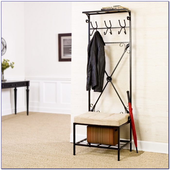 Entryway Storage Bench With Coat Rack Uk