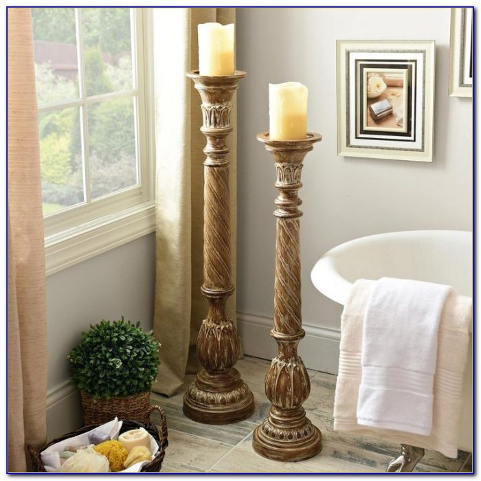table top chandelier candle holder tabletop home With best brand of paint for kitchen cabinets with column candle holders