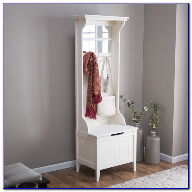 Hall Tree With Storage Bench And Baskets
