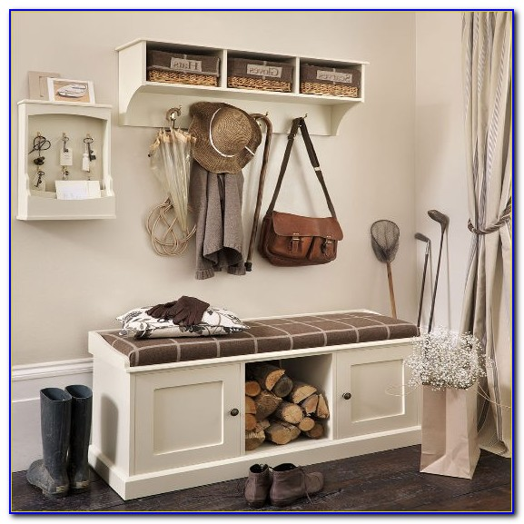 Hallway Bench With Storage Baskets