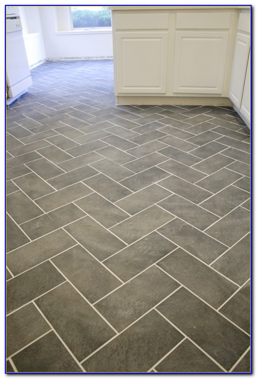 Herringbone Tile Pattern Floor