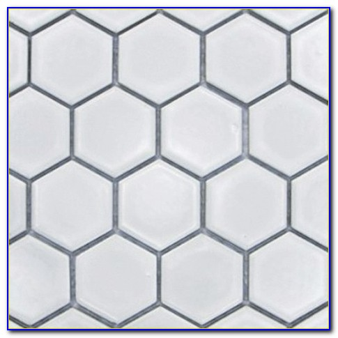 Hexagon Mosaic Bathroom Tiles