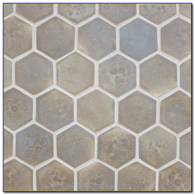 Honeycomb Mosaic Floor Tiles