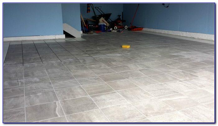 Porcelain Tile Garage Floor Installation Flooring Home