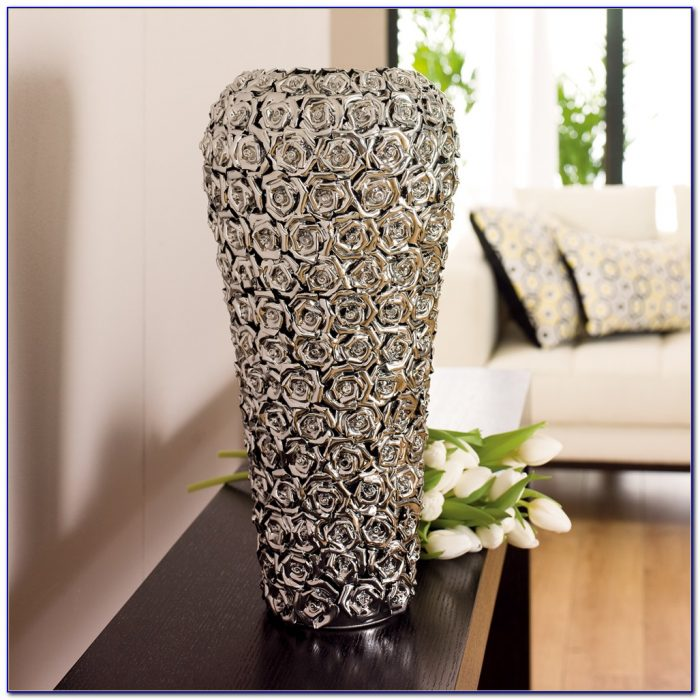 Large Clear Glass Floor Vases