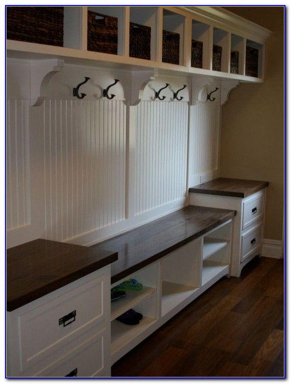 Mudroom Bench With Storage And Hooks
