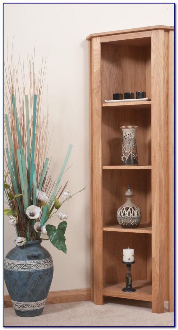 Oak Corner Bookshelves