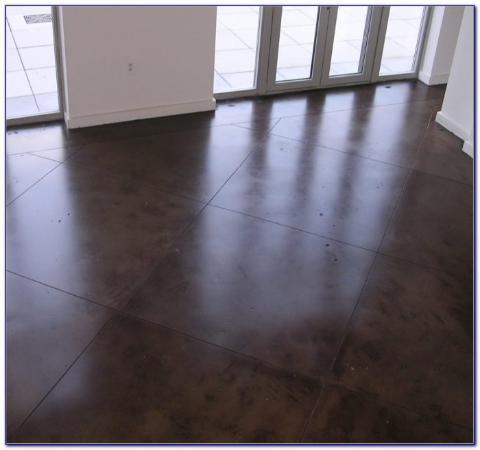 Sealing stained cement floors flooring home design for Prefinished hardwood flooring pros and cons