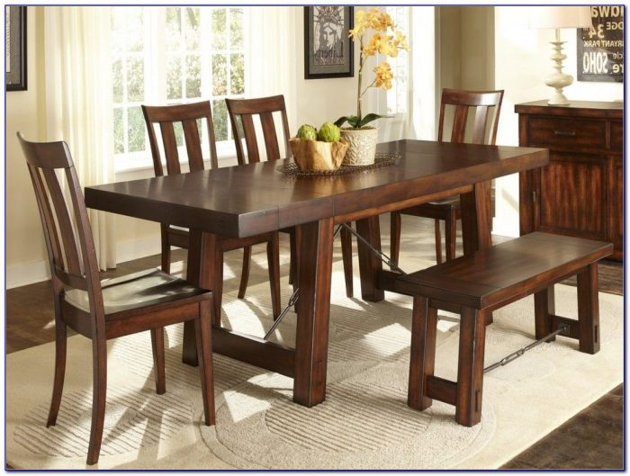 Rectangular Kitchen Table With Bench
