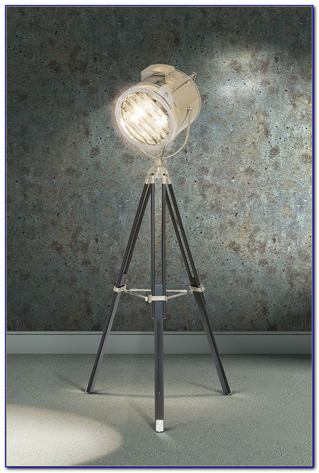 Retro Style Tripod Floor Lamp