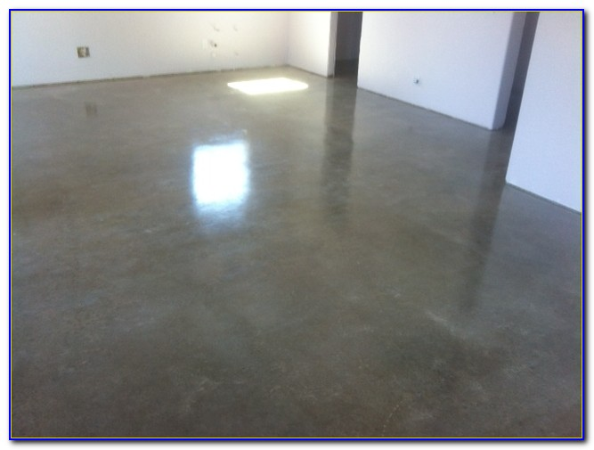 Sealing Acid Stained Concrete Floor