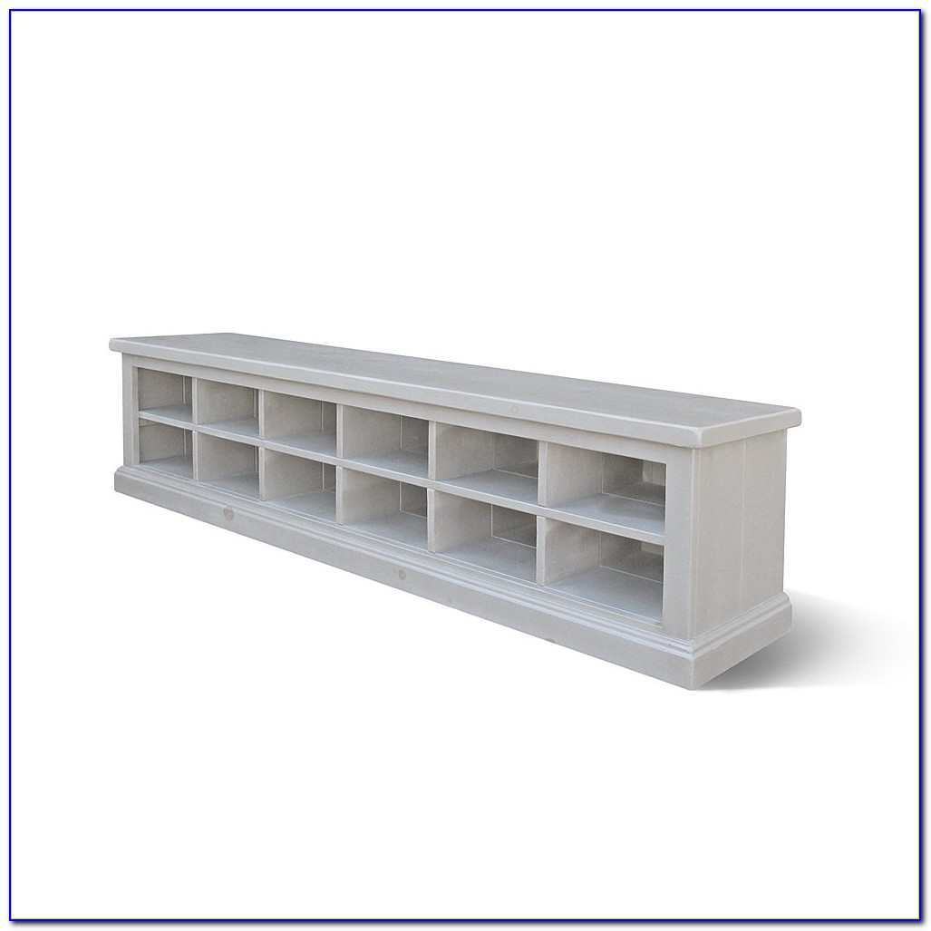 Shoe Cubby Bench With Cushion