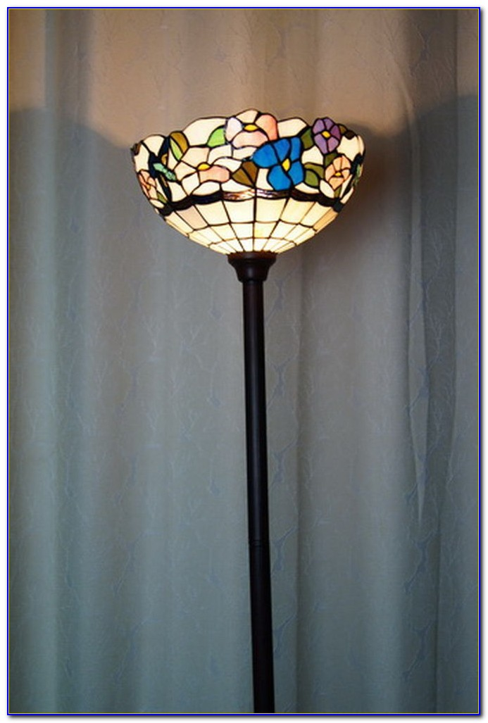 Stained Glass Torchiere Floor Lamp Flooring Home