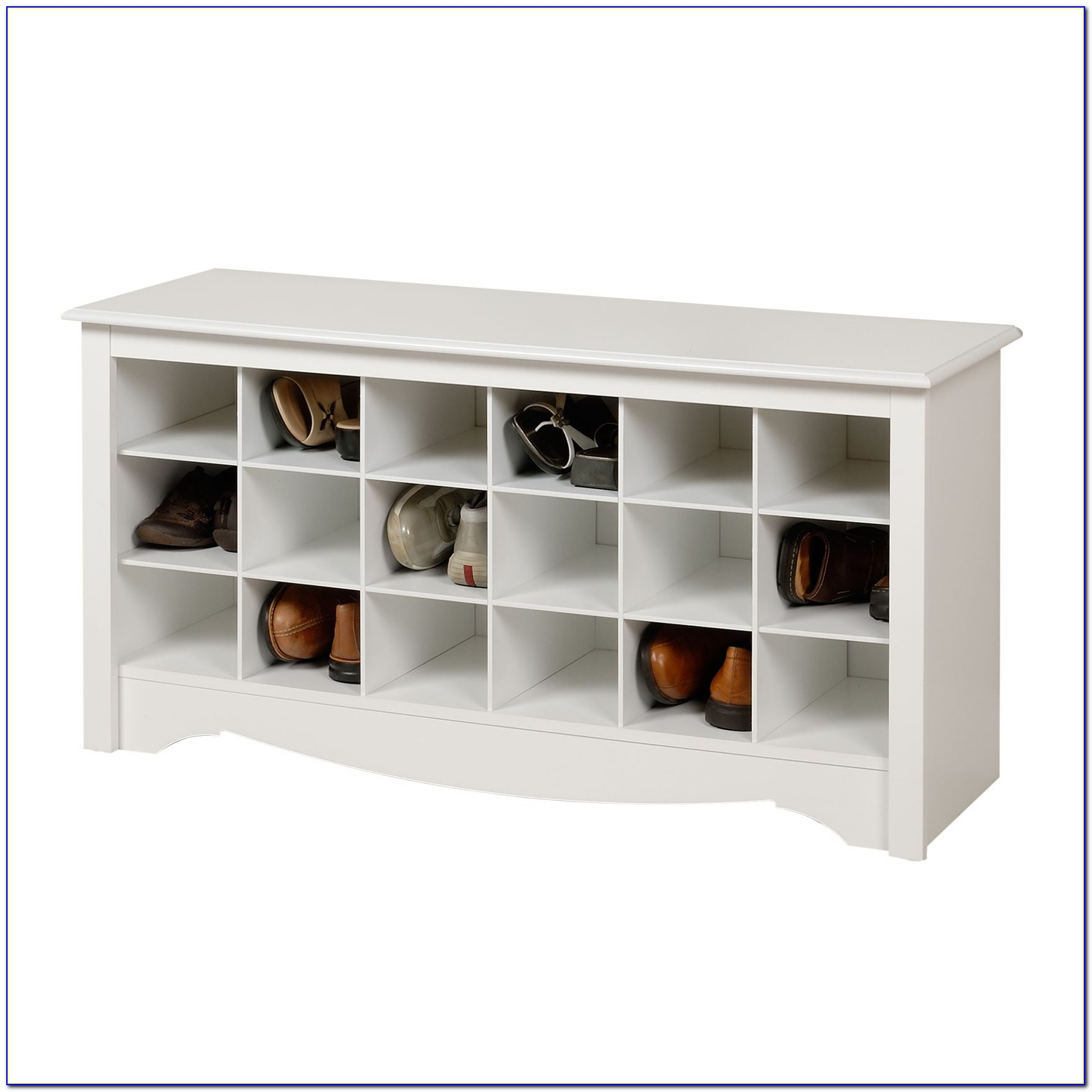 Storage Bench With Shoe Cubbies