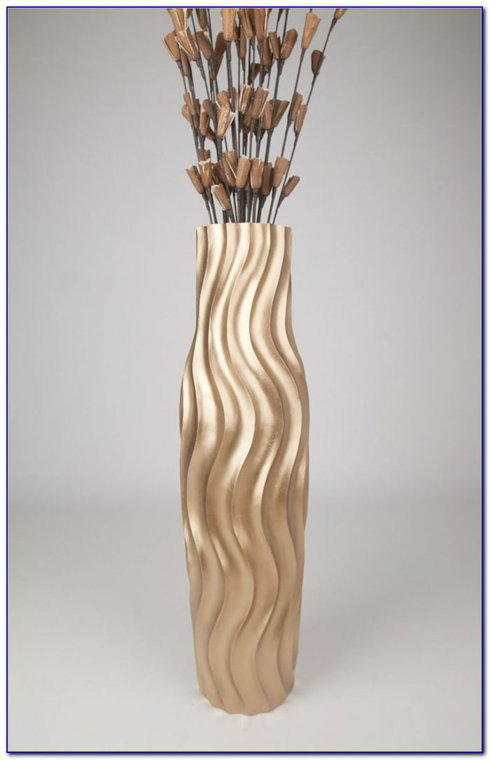 Tall Floor Standing Glass Vases