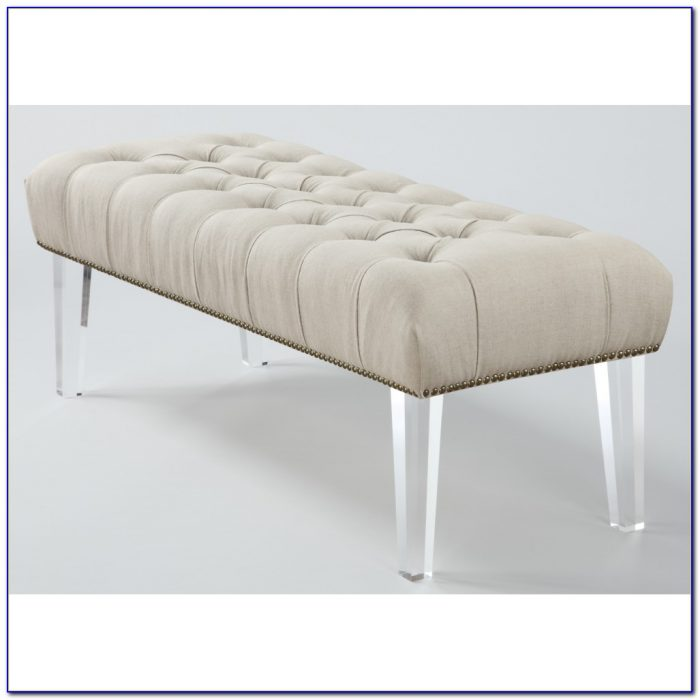 Tufted Bench With Acrylic Legs