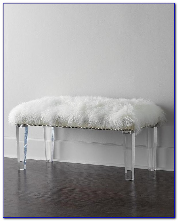 Upholstered Bench With Acrylic Legs