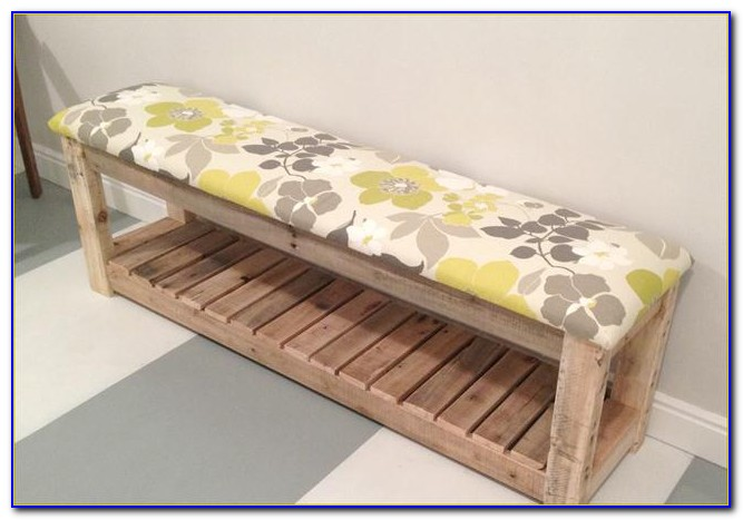 Upholstered Bench With Shoe Storage