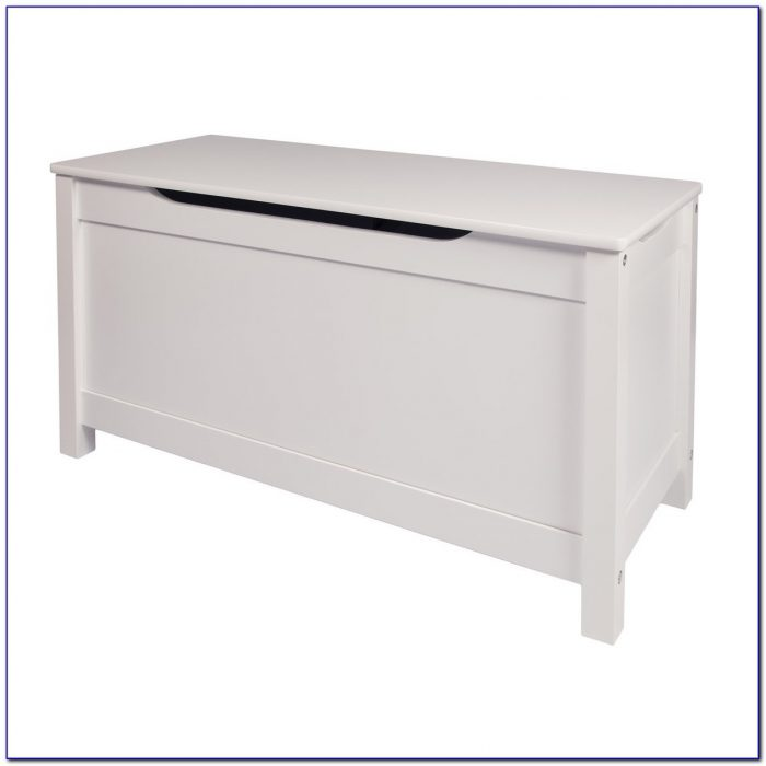 Upholstered Storage Bench With Nailheads