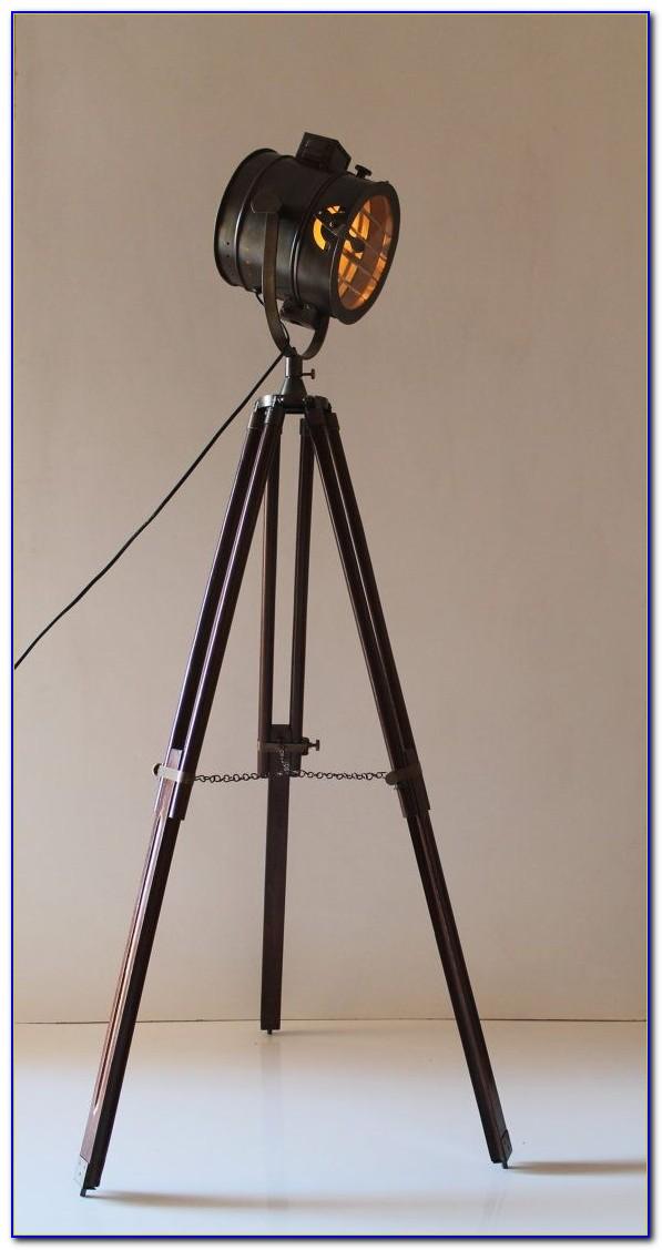 Vintage tripod floor lamp flooring home design ideas for Photographer s tripod floor lamp bronze finish