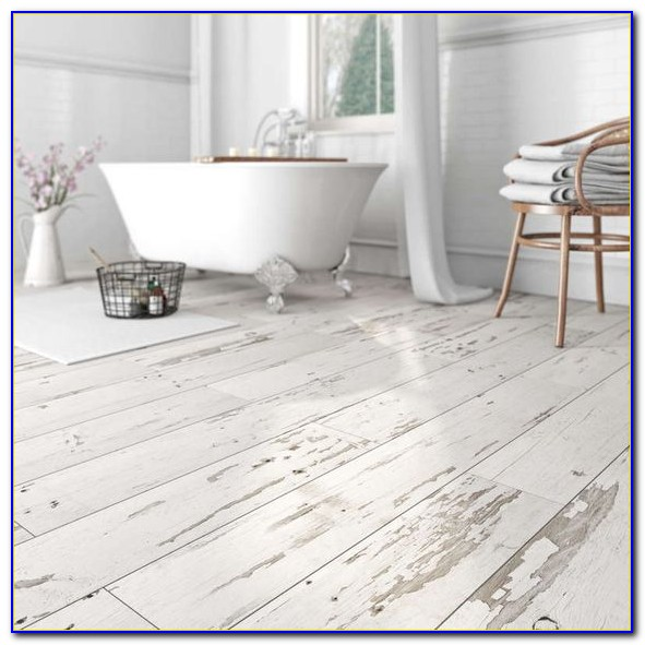 Whitewashed Vinyl Flooring