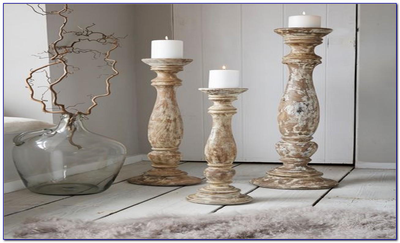 Wood floor pillar candle holders flooring home design for Floor pillars