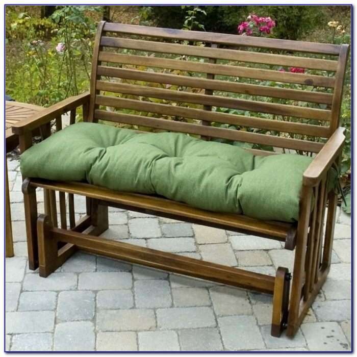 Outdoor Bench With Cushion Treenovation 48 Inch Outdoor Bench Cushion
