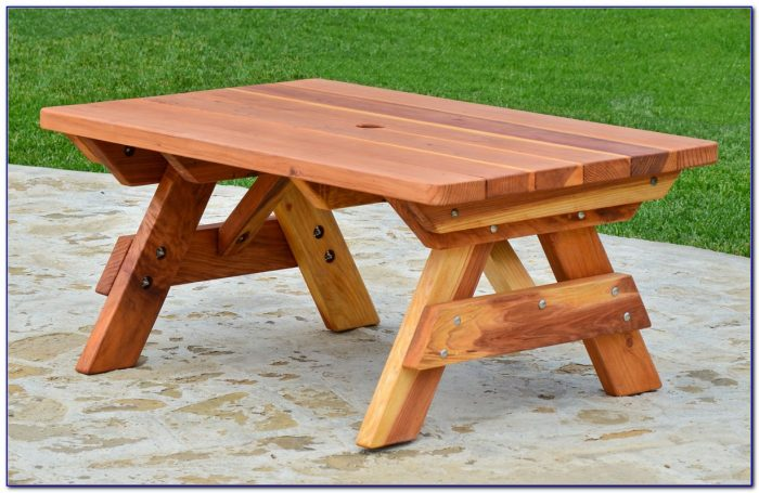 8 Foot Picnic Table With Detached Benches