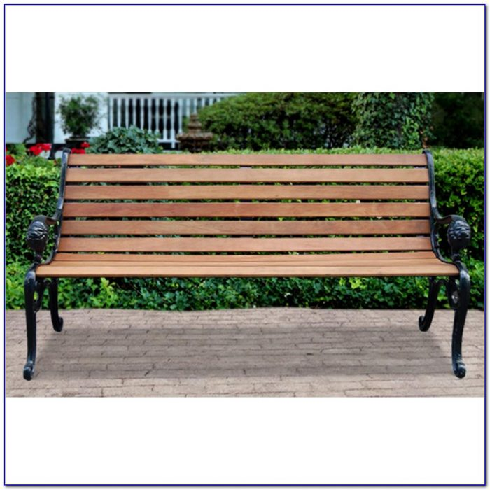 Antique Wrought Iron Park Bench