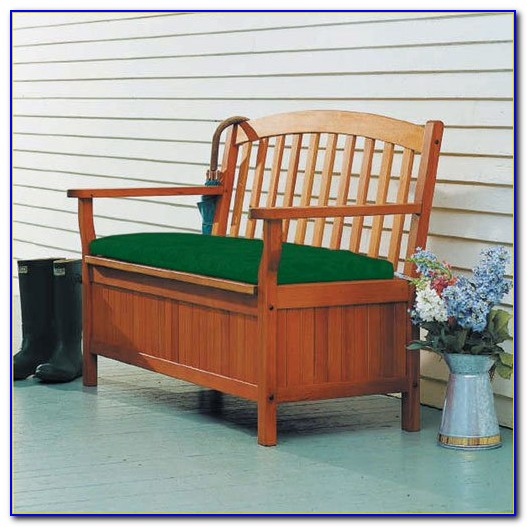 Backless Outdoor Bench With Cushion