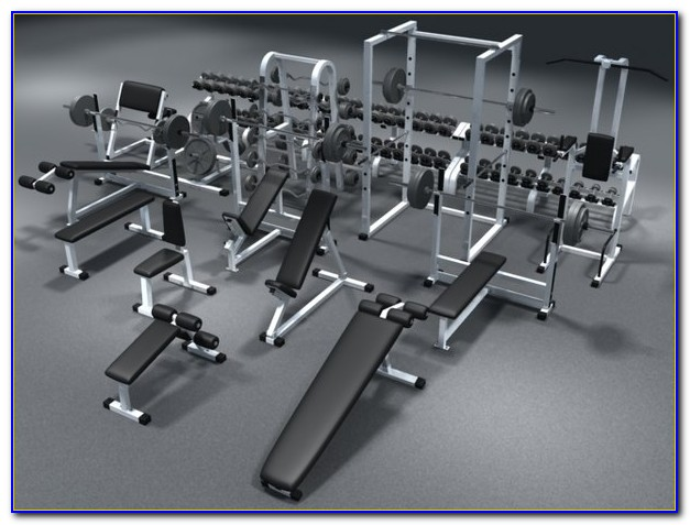Bench Press And Dumbbell Set