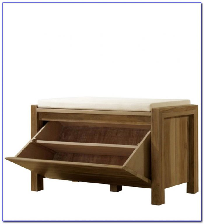 Bench Seat With Shoe Rack