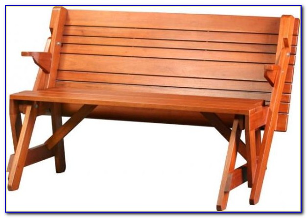 Bench That Converts Into Picnic Table