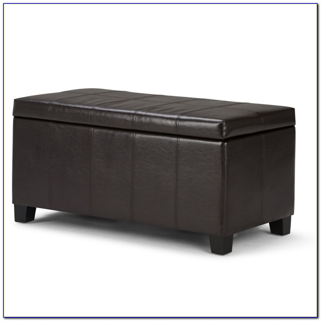 Black Ottoman Bench With Storage