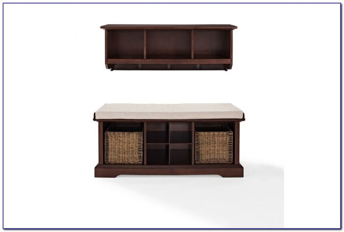 Brennan Entryway Bench And Shelf Set
