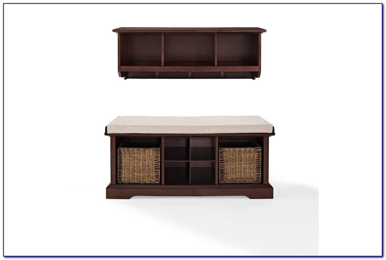 Brennan Entryway Bench And Shelf Set