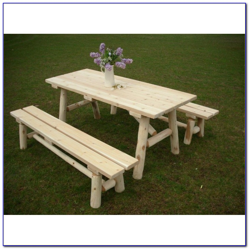 Build A Picnic Table With Detached Benches