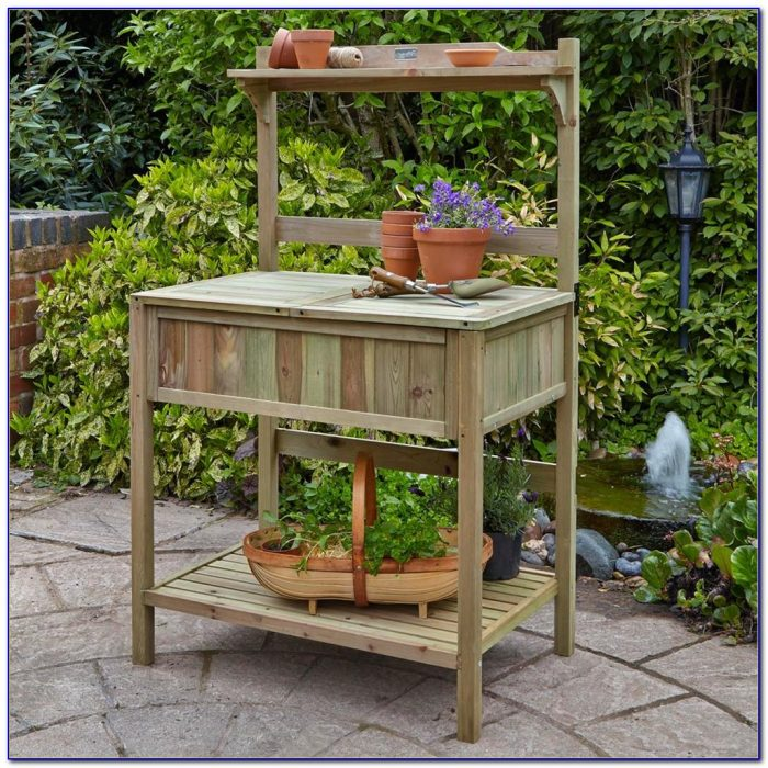 Build A Cedar Potting Bench Bench Home Design Ideas Z5nkxevad8104504