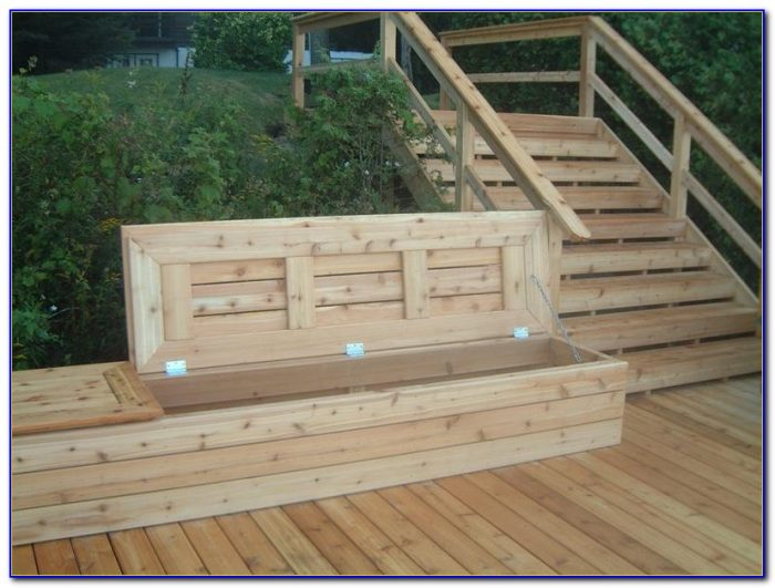 Building Deck Benches With Storage