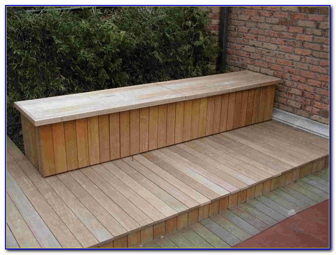 Built In Deck Benches With Storage