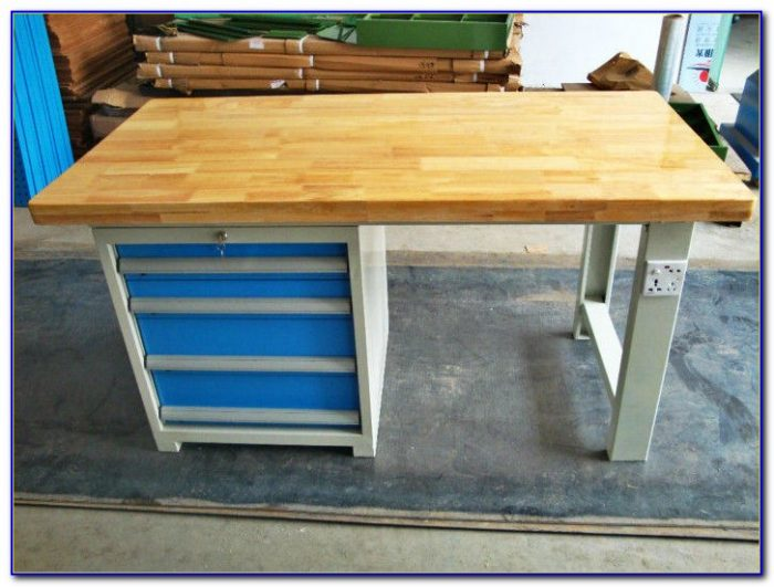 Butcher Block Kitchen Work Bench