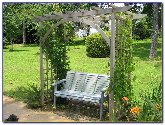 Metal Garden Arbor With Bench Bench Home Design Ideas