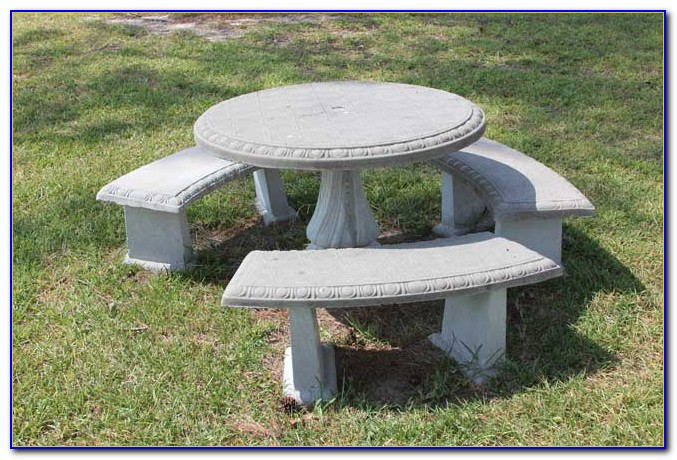Cement Patio Tables And Benches