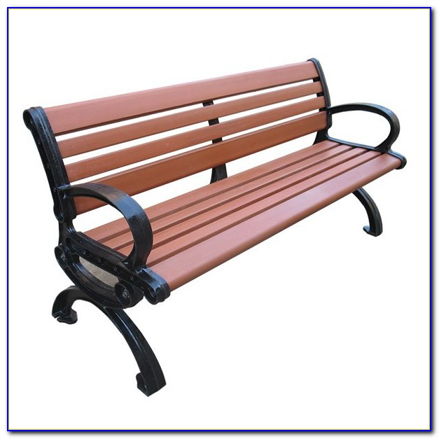 Chippendale Cast Aluminum Park Bench